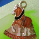 CHARM: vintage collectible Enamel Budweiser Clydesdale Horse Charm