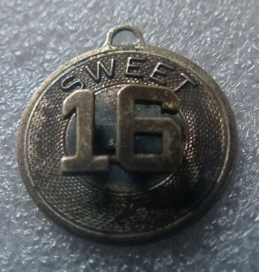 VINTAGE BIRTHDAY CHARM : SWEET 16 / A FAVORITE BIRTHDAY /BEAU STERLING RAISED 16