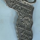 "VINTAGE "" M&M "" STERLING FLORIDA MAP SOUVENIR CHARM #6"