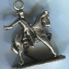 CHARM: VINTAGE silver FACELESS SILVER PAUL REVERE ON HORSE