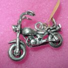 CHARM or PENDANT: sterling 925 MOTOR CYCLE BIKE BIKER : MOVING WHEELS