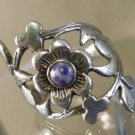 RING sz 8 sterling 925 silver FLOWERS FOR YOUR FINGER signed MC