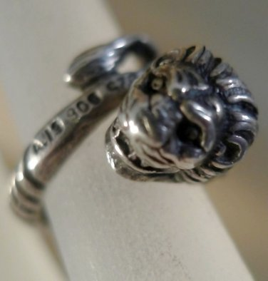 sz 3 RING: sterling 925 silver Lion or Dragon Wrap BY-PASS 900 & Something Else