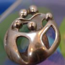 PENDANT : JOYFUL LOVING FAMILY OF 5  by CAROLYN POLLACK : sterling 925 silver