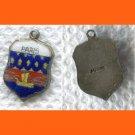 PARIS Enamel & Sterling Silver Travel Shield Souvenir Charm