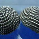 vintage sterling 925 silver CLIP EARRINGS : CIRCLE OF ROPE : SNUG CLIPS