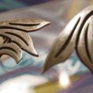 vintage TAXCO LA CUCARACHA sterling silver 3 EAGLE screw back DECO earrings
