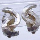 clip EARRINGS: silver CECILE JEANNE of PARIS Swarovski Crystal HALLMARK