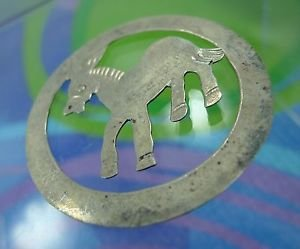 vintage sterling BOOKMARK MEXICO TAXCO Burrow Donkey Mule