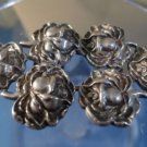 LADIES VINTAGE FLORAL BUCKLE: sterling 925 silver Signed Jorge Chato Castillo