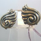 Vintage Art Deco Sterling Silver Screw Back Earrings