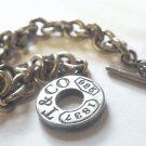 Authentic Retired Tiffany & Co. Toggle Link 8 Inch Bracelet 1837 Collection