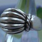 sz 8 Vintage RING signed ESPO SIG Sterling Unusual Fluted