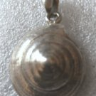 Vintage Taxco Mexico Sterling Snail Shell Pendant Conical Pinwheel Signed TN-49