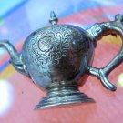 Vintage Sterling Brooch Vintage Victorian Teapot Signed MFA Museum Of Fine Arts