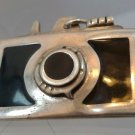 CAMERA PENDANT by ANNE HARVEY TAXCO MEXICO BROOCH ENAMEL ON sterling 925 silver
