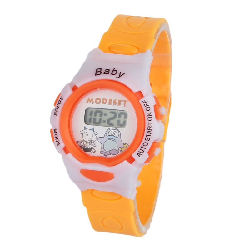 Colorful Boys Girls Baby Kids Students Time Electronic Digital Wrist Sport Watch