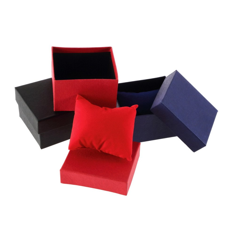 Red Color Jewelry Watch Box Fashion 1pcs Elegant Pure Color Paper Present Gift Box Case