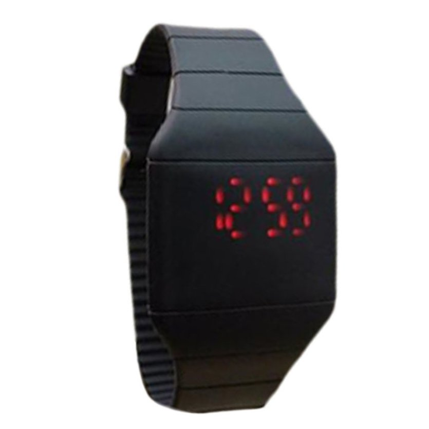 Fashion Colorful The Jelly Ultra-Thin LED Silicone Sport Wrist Watch For Children