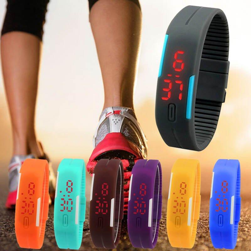 Ultra Thin Men Girl women Fashion Watches Silicone ElectronicDigital LED Sports Wrist Watch