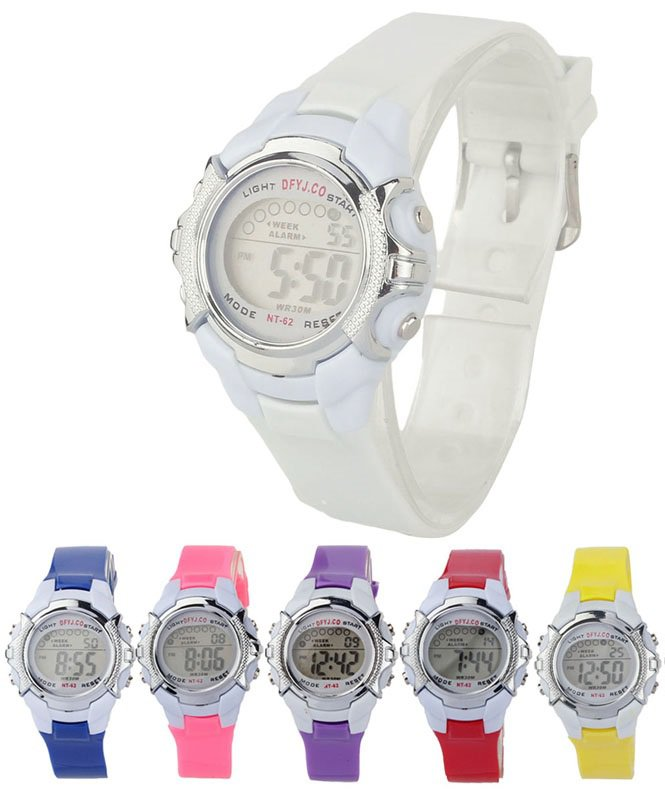 Creative New Fashion Children Digital LED Quartz Alarm Date Sports Wrist Watch