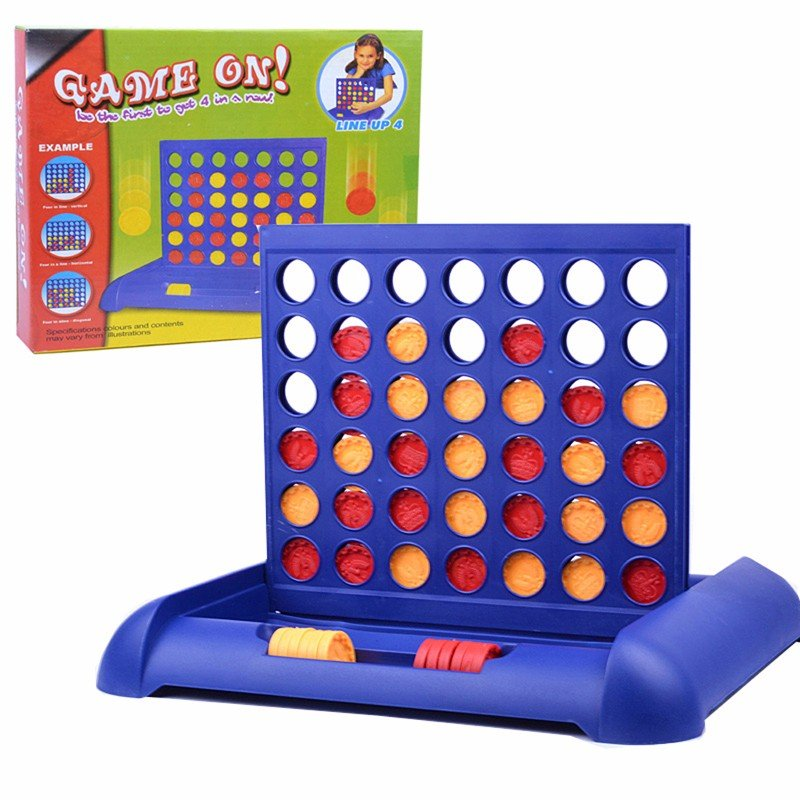 Kid Child Educational Toy Connect 4 Game Children's Educational Board Game Toys Math Toy Gift