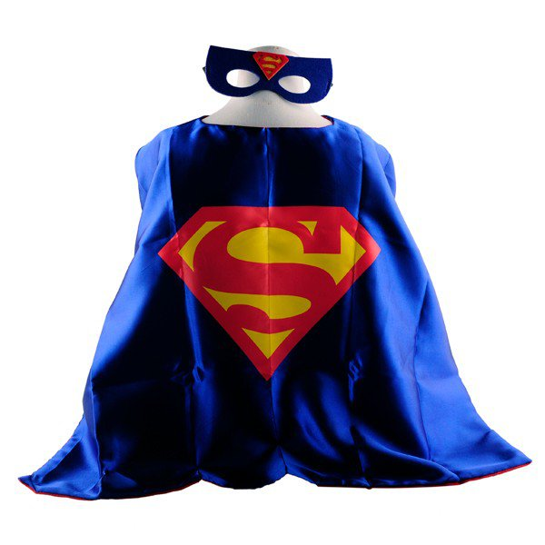 Mask+cape kids superhero capes superman costume boys girls for party