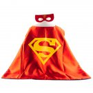Mask+cape kids superhero capes superman red costume girls for party