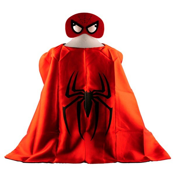 Mask+cape kids superhero capes spiderman costume boys girls for party