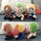 3pcs/set Funko Mopeez Suicide Squad Joker Deadshot Harley Quinn Plush Doll Figure Toy 20CM