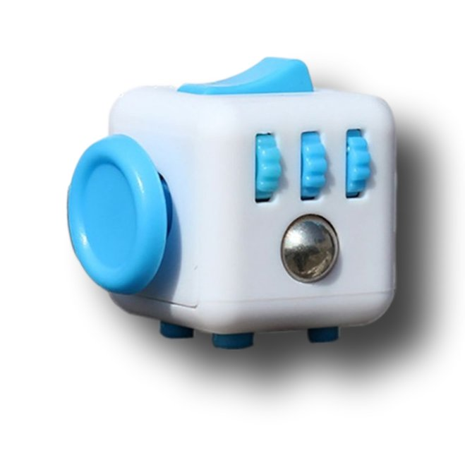 Blue White Fidget Cube Toys Original Quality Puzzles & Magic Cubes Anti Stress Reliever Gift