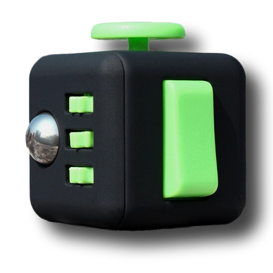 Black Green Fidget Cube Toys Original Quality Puzzles & Magic Cubes Anti Stress Reliever Gift