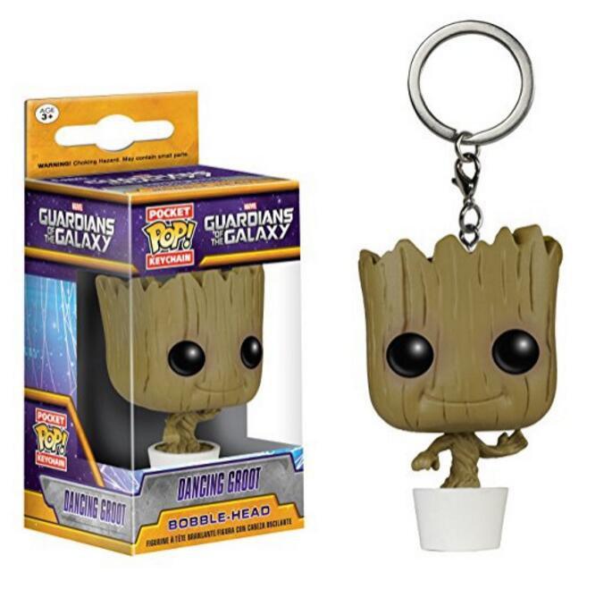 Funko POP Keychain Guardians of the Galaxy Dancing Baby Toddler Groot 5cm Vinyl Tree Man Pvc