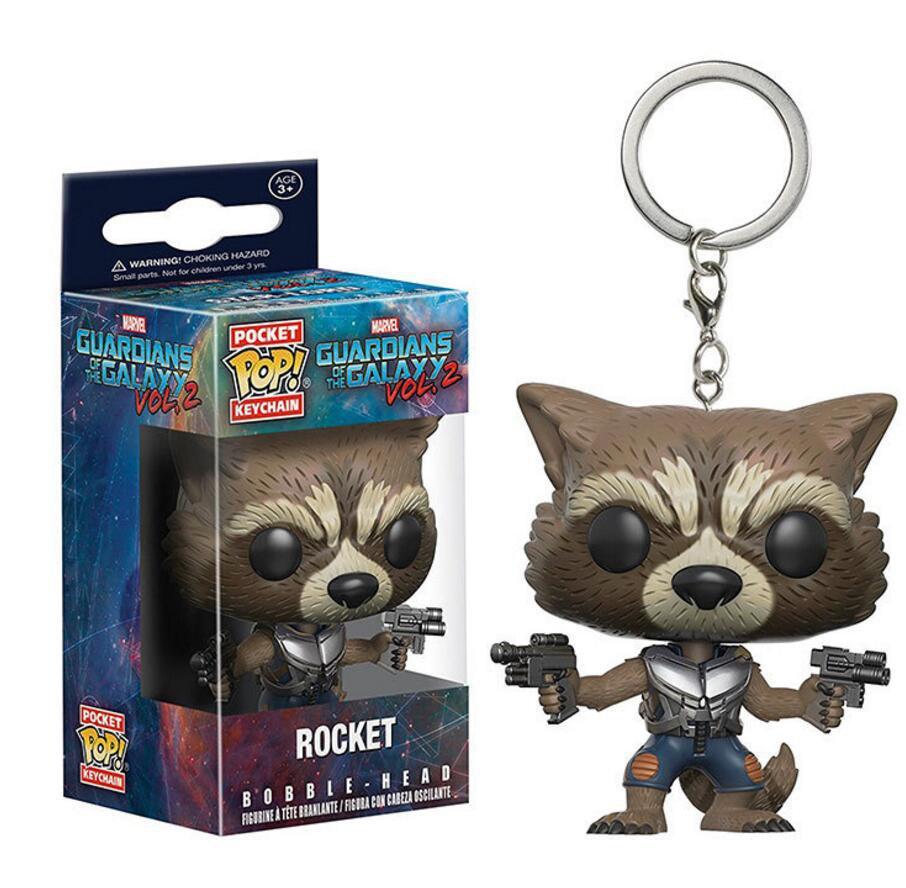 Funko POP Keychain Guardians of the Galaxy Vol. 2 Rocket Raccoon 5cm Vinyl Pvc