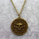 Pirates of the Caribbean 5 Dead Men Tell No Tales Vintage Alloy Aztec Coin Pendant Necklace Bronze