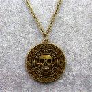 Pirates of the Caribbean 5 Dead Men Tell No Tales Vintage Alloy Aztec Coin Pendant Necklace Bronze