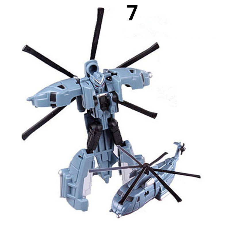 Mini Helicopter Plastic Robot Cars Transformers The Last Knight Action Figure Educational Puzzle