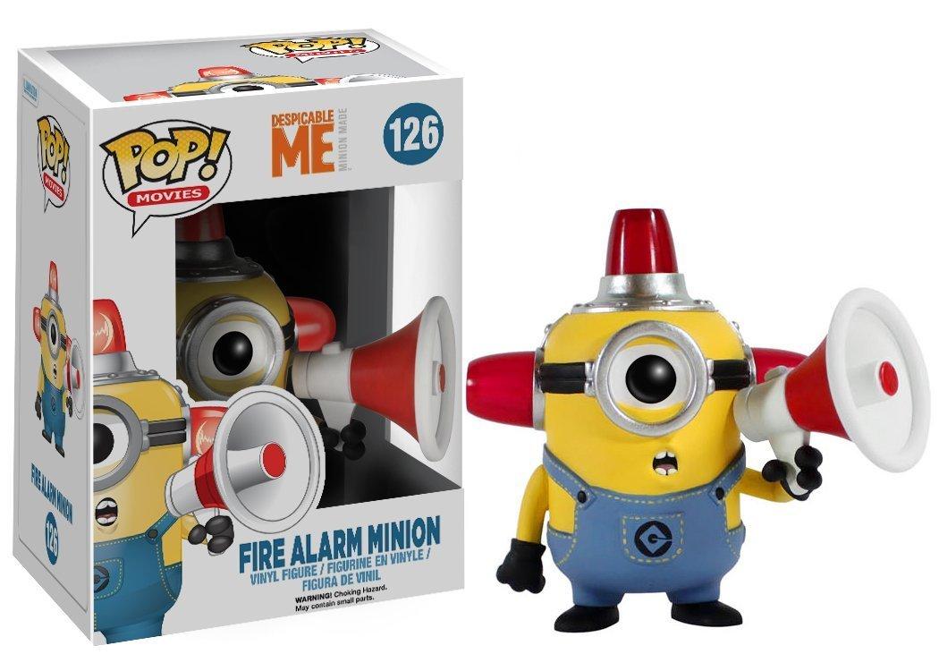 Funko POP Movies Despicable Me 3 Minions Fire Alarm Minion 10cm Pvc Vinyl Action Figure