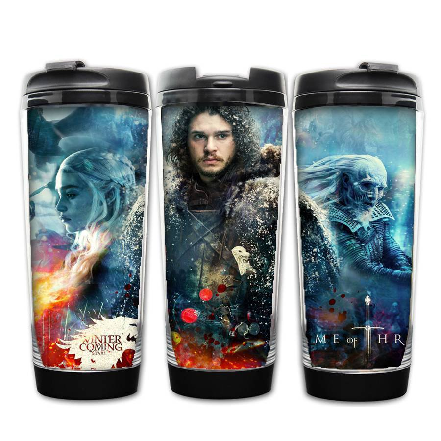 Game fo thrones Jon Snow coffee Stainless Steel Bottle Double layer anti-scalding Water Bottle