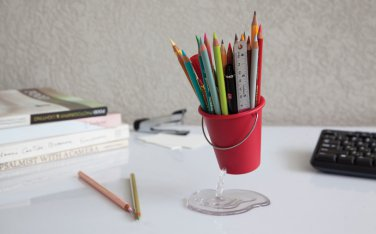 Peleg Design DESK BUCKET Whole in the bucket Home Kitchen Gifts free ship