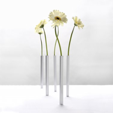Peleg Design MAGNETIC VASE 5 Aluminum Vases Home Kitchen Gifts Office free ship