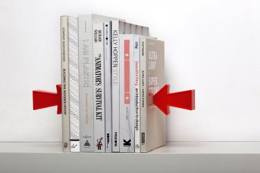 Peleg Design 2 ARROW Magnetic Bookends Home Kitchen Gifts Office free ship