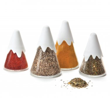 Peleg Design HIMALAYA SET 4 Mountain Spice Shakers Home Kitchen Gifts Office free ship