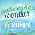 Watercolor Wonder - 2017 Wall Calendar