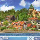 Beautiful City Architecture and Colors in Summer Season, Osio, Norway - Puzzlebug 500 Piece