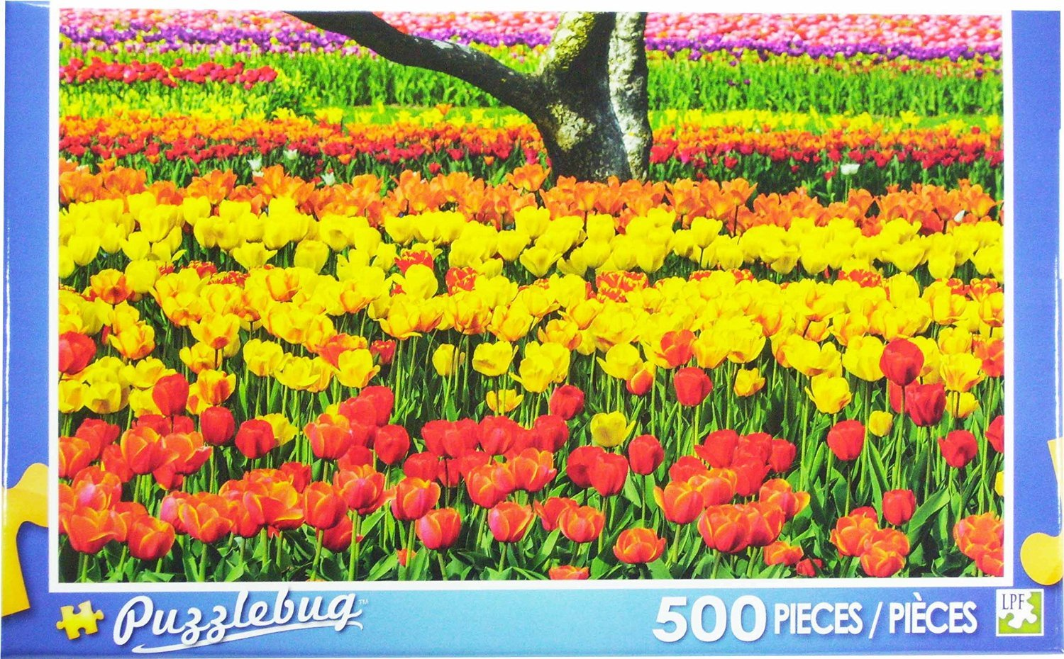 Puzzlebug ~ Colorful Tulips ~ 500 Piece Puzzle