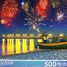 Firework Display at Baltic Sea, Poland - 500 Pieces Jigsaw Puzzle