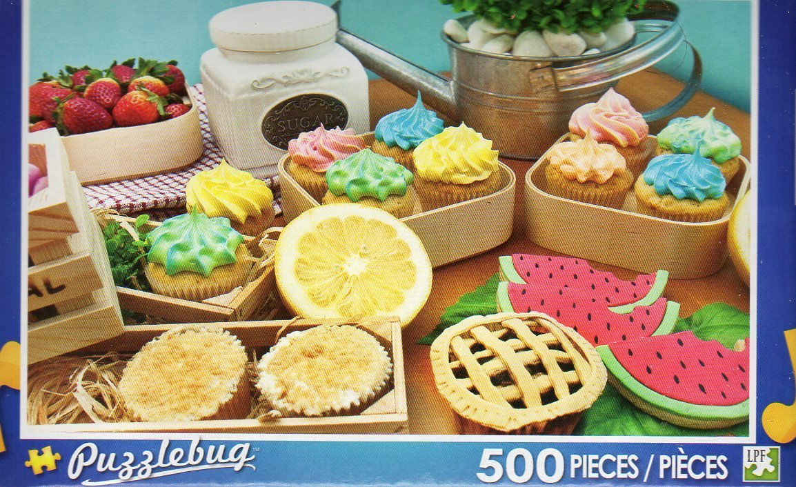 Cupcakes Fresh from the Farm - Puzzlebug - 500 Pieces Jigsaw Puzzle