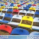 Colorful Stadium Seats - Puzzlebug 500 Piece Jigsaw Puzzle
