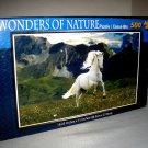 Wonders of Nature 500 Piece Puzzle ~ Beautiful Galloping White Stallion